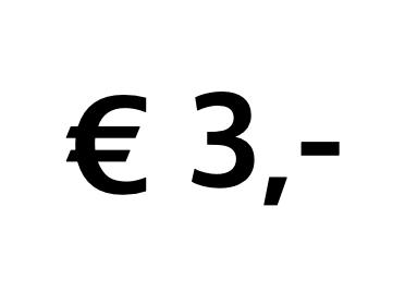 Doneer € 3,-